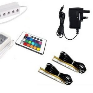 RGB LED Lights -clips for glass