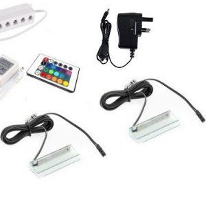 RBG LED Lights - clips for glass