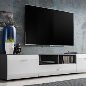 Tv Unit CLIFF 180cm - grey & white